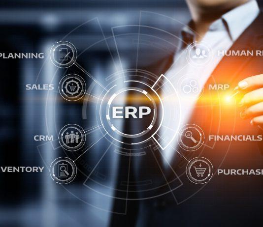 Enterprise Resource Planning ERP Corporate Company Management Business Internet Technology Concept.
